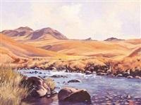 lotheni river, s. drakensberg [sic] by ted (tjeerd adriaanus johannes) hoefsloot